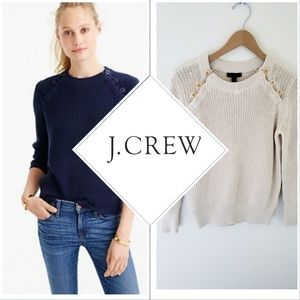 J Crew Sweater with anchor buttons